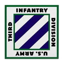 3ID US Army Tile Coaster