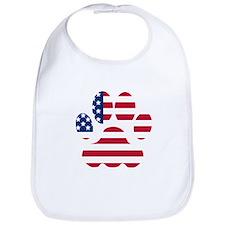 American Flag Dog Paw Bib