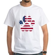 American Flag Dog Paw T-Shirt
