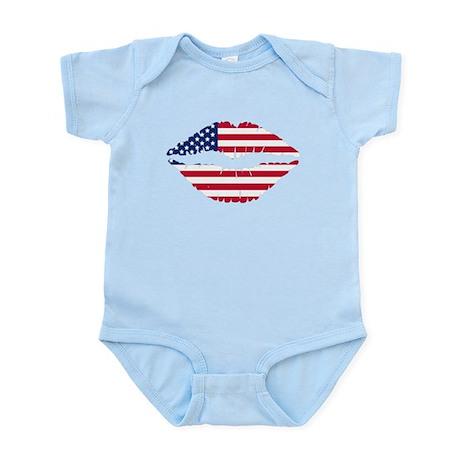 American Flag Lips Body Suit