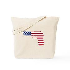 American Flag Gun Tote Bag