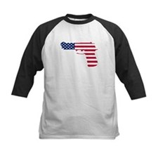 American Flag Gun Baseball Jersey