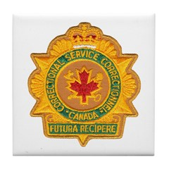 Canada Corrections Tile Coaster