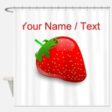 Custom Strawberry Shower Curtain