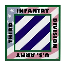 3ID US Army Version 2 Tile Coaster