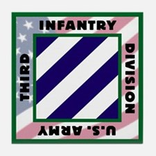 3ID US Army Version 2 Tile Coaster