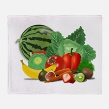 Fruits And Vegetables Throw Blanket