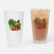 Fruits And Vegetables Drinking Glass