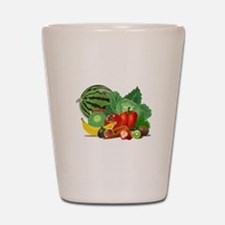 Fruits And Vegetables Shot Glass