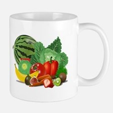 Fruits And Vegetables Mugs