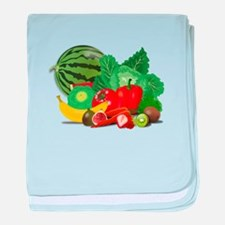Fruits And Vegetables baby blanket