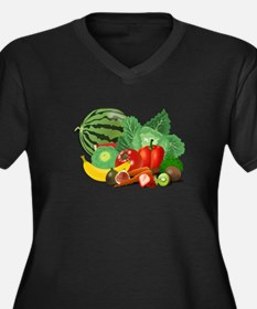 Fruits And Vegetables Plus Size T-Shirt