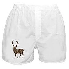 Flower Reindeer Boxer Shorts