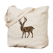 Flower Reindeer Tote Bag
