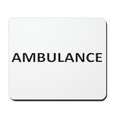 Ambulance - Black Mousepad