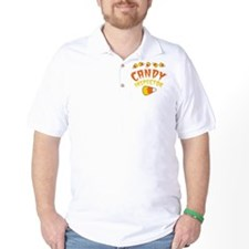 Halloween CANDY INSPECTOR with candy corn T-Shirt