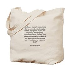 Advice to Midshipmen Tote Bag