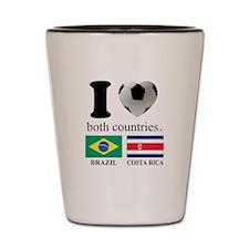 BRAZIL-COSTA RICA Shot Glass
