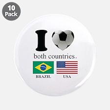 """BRAZIL-USA 3.5"""" Button (10 pack)"""