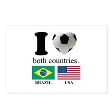BRAZIL-USA Postcards (Package of 8)