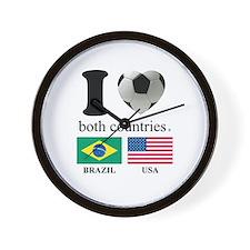 BRAZIL-USA Wall Clock