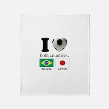 BRAZIL-JAPAN Throw Blanket