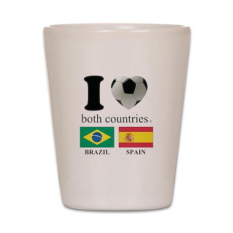BRAZIL-SPAIN Shot Glass