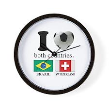 BRAZIL-SWITZERLAND Wall Clock