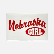 Nebraska Girl Rectangle Magnet