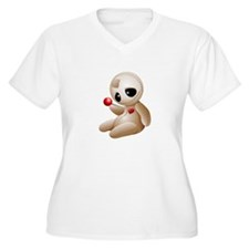 Voodoo Doll Cartoon in Love Plus Size T-Shirt