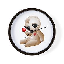 Voodoo Doll Cartoon in Love Wall Clock