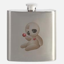 Voodoo Doll Cartoon in Love Flask