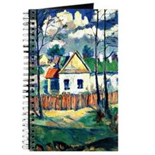 Spring Landscape with Cottage, Painting by Journal
