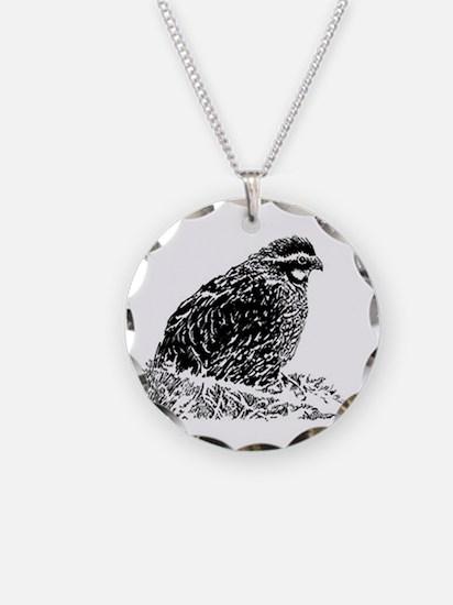 Bobwhite Quail (line art) Necklace