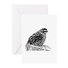 Bobwhite Quail (line art) Greeting Cards