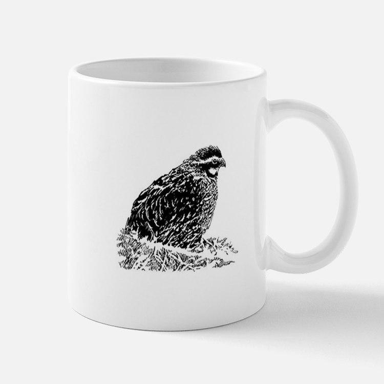Bobwhite Quail (line art) Mugs