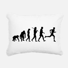 Running Evolution Rectangular Canvas Pillow