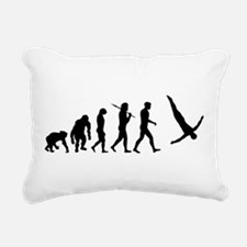 Diving Evolution Rectangular Canvas Pillow