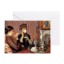 The Tea, 1880 painting by Mary Cassa Greeting Card