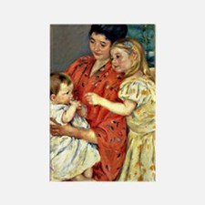 Mary Cassatt - Mother and Sara Ad Rectangle Magnet