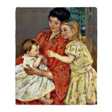 Mary Cassatt - Mother and Sara Admir Throw Blanket
