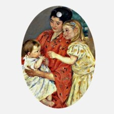 Mary Cassatt - Mother and Sara Admir Oval Ornament