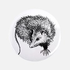 "Opossum (line art) 3.5"" Button"