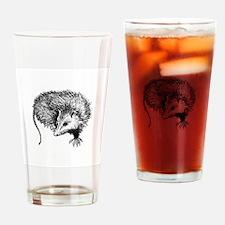 Opossum (line art) Drinking Glass
