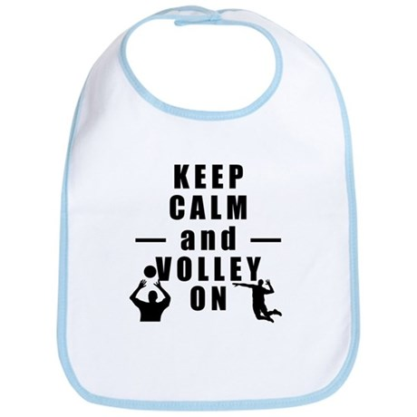 Keep Calm and Volley On Bib