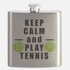 Keep Calm and Play Tennis Flask