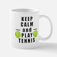 Keep Calm and Play Tennis Mugs