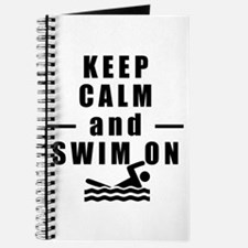 Keep Calm and Swim On Journal