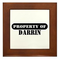 Property of Darrin Framed Tile
