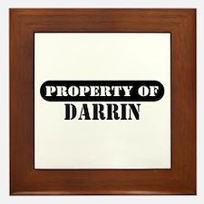 Property of Darrin Framed Tile
